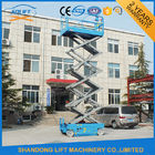 China Electric Telescopic Aerial Work Mobile Scissor Lift Trucks CE 4m -14m 300kg 500kg Load weight factory