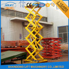 Hydraulic Cargo Warehouse Elevator Lift , Upright Auto Scissor Lift Platform