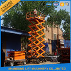 China Electric Hydraulic Mobile Platform Lift for Aerial Work / Decoration / Street Lamp Maintenance factory