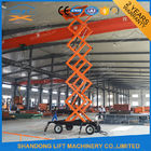 China Mobile Platform Lift , 300kg 500kg 1000kg Load Capacity Hydraulic Scissor Lift Trolley  factory