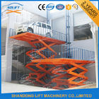 China Blue High Rise Hydraulic Scissor Car Lift Scissor Car Parking Basement Lift factory