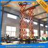 500kgs 10m mobile scissor lift 4 wheels mobile aerial work lift platform with CE