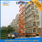 1000kgs 10m Mobile Manual Hydraulic Scissor Lift Table 1T 4 Wheel Mobile Lift