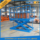 China 2T Warehouse Cargo Stationary Hydraulic Scissor Lift with Safe Sensor and Maintenance Bar company