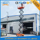 China Hydraulic Mobile Self Propelled Elevating Work Platforms With 90 Degree Turnable Wheels factory