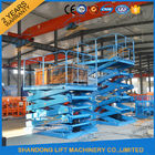 2T 5.5M Stationary Hydraulic Scissor Lift Warehouse Material Loading Lift CE SGS TUV