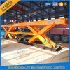 8T Electrical Hydraulic Scissor Heavy Duty Lift Tables Elevating Platform With Jack Lift