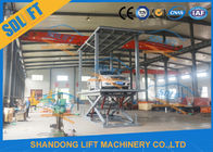 Reliable Double Deck Car Parking System , 2 Cars Hydraulic Scissor Lift For Basement