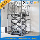 1T 3M Electric Cargo Lift / Hydraulic Scissor Lift 1000kg Lift Capacity