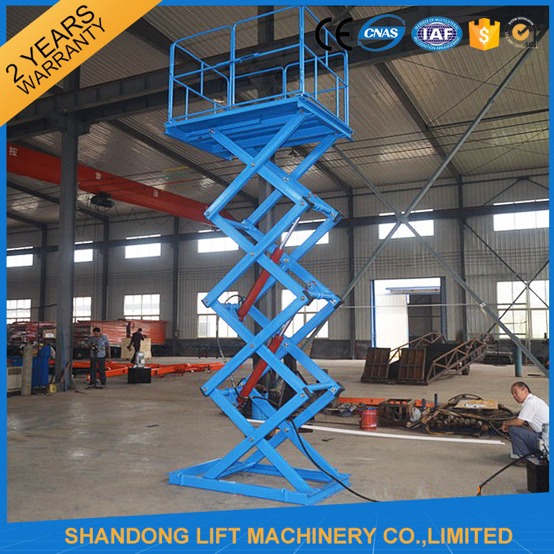 1 Ton Stationary Hydraulic Scissor Lift For Home Use 1 6m