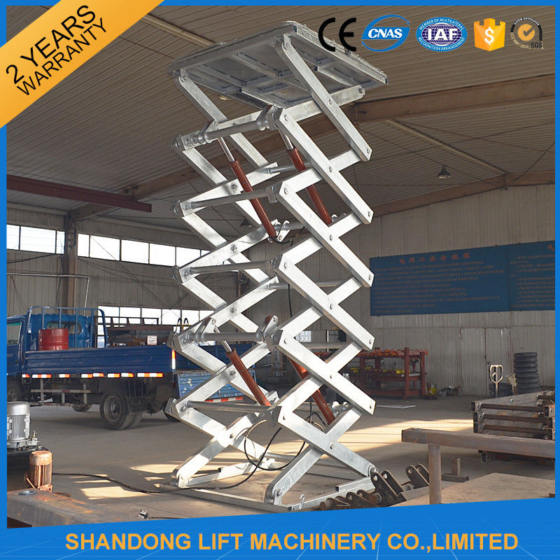 Hot Dip Galvanized Stationary Hydraulic Scissor Lift