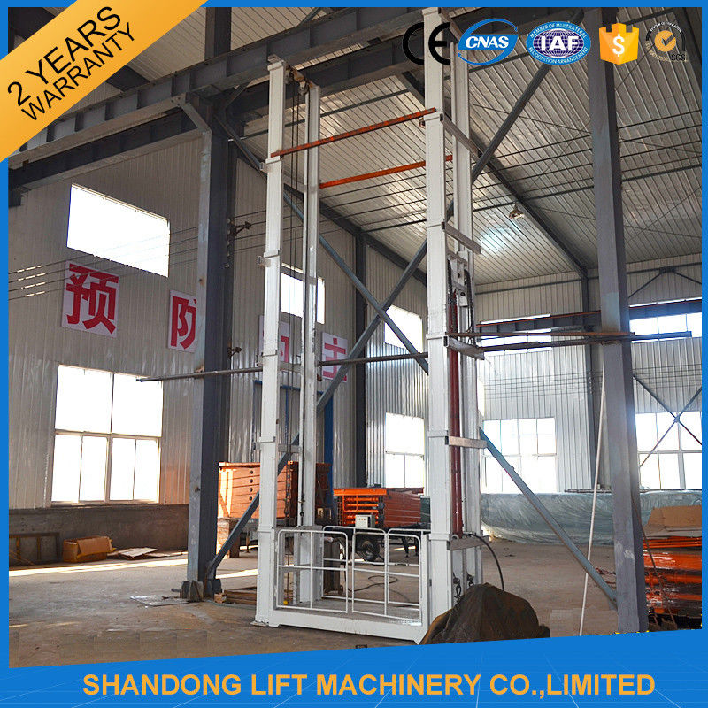 Construction Boom Lift Hydraulic : Tons m hydraulic outside guide rail vertical cargo