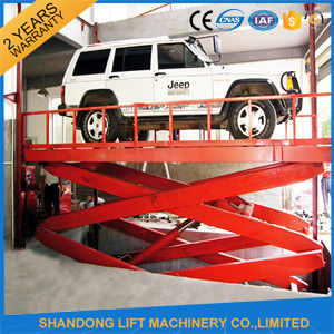 220V Electric Portable Hydraulic Scissor Car Lift for