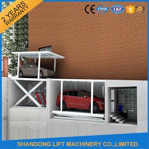 CE Double Parking Car Lift , Residential Garage Portable Car Hoist