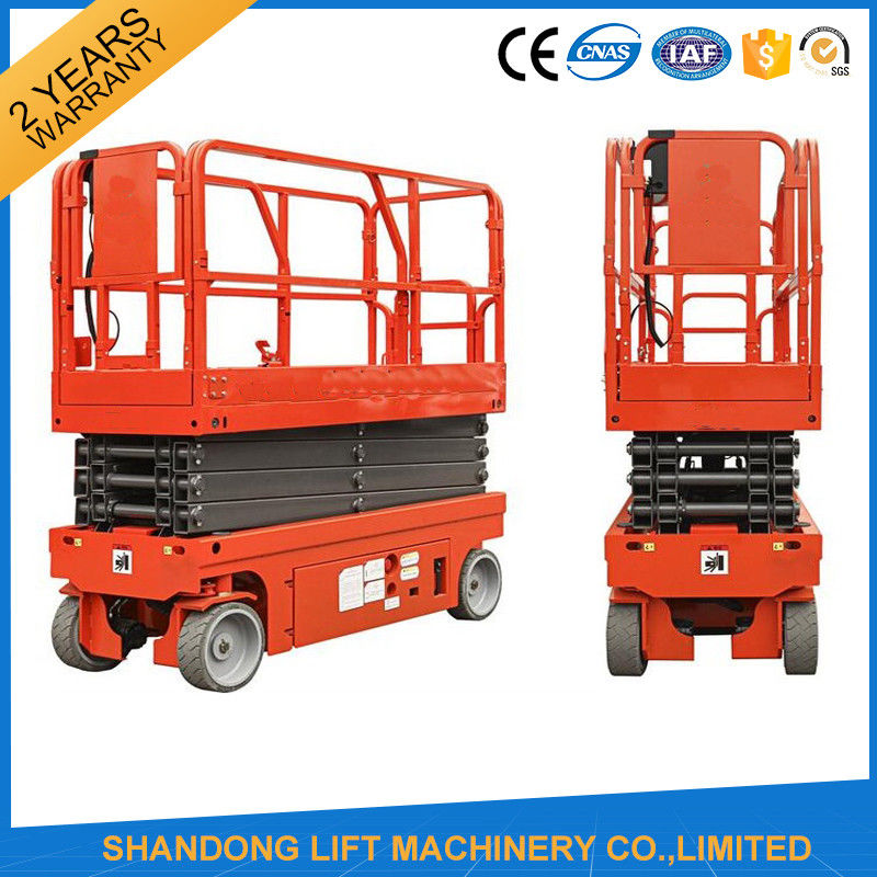 Mobile Hydraulic Lifts : Small mobile electric hydraulic lift table for rental
