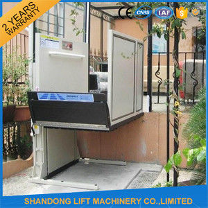 1m   6m Home Vertical Wheelchair Lift , Exterior Residential Outside  Elevators For Homes
