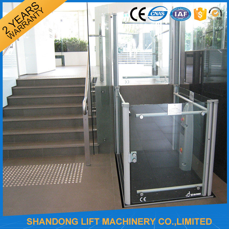 Wheelchair Hydraulic Platform Lift , Residential Vertical Wheelchair Lifts  For Homes