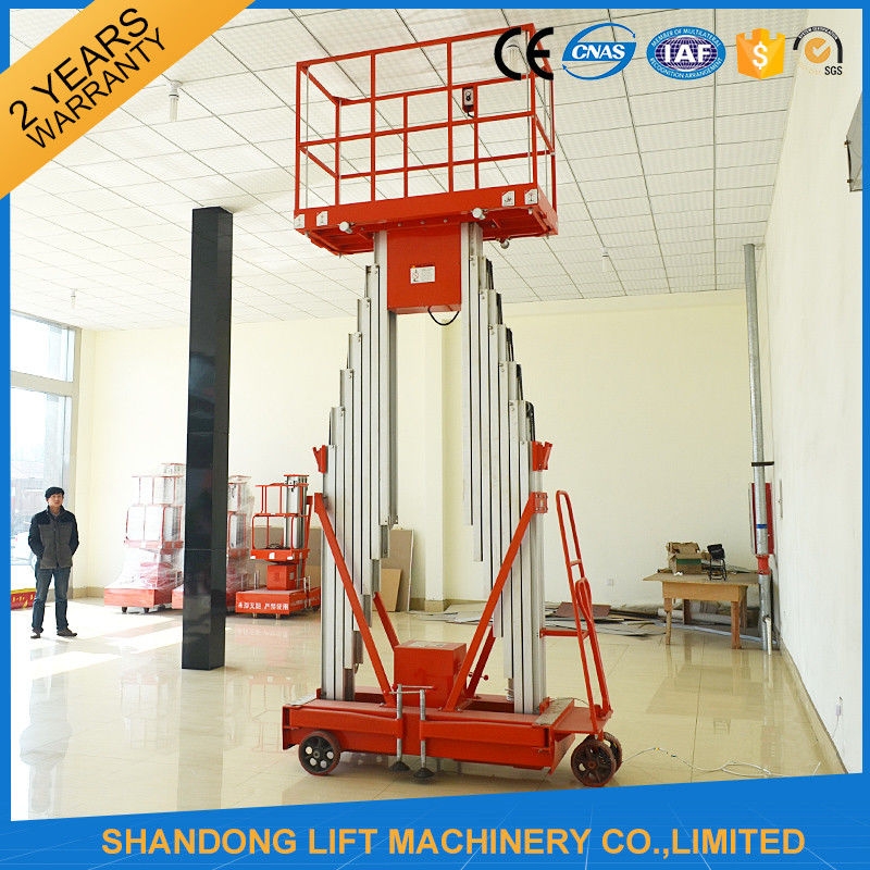 Mini Light Weight Electric Truck Mounted Aerial Work Platforms 1.4 * 0.6 mm Table Size