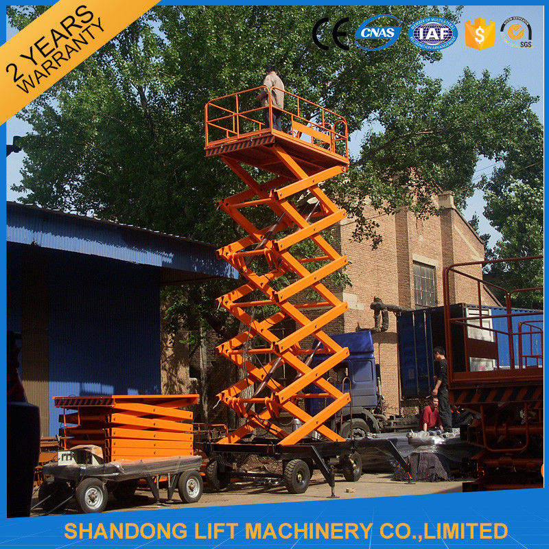 Electric Hydraulic Mobile Platform Lift For Aerial Work