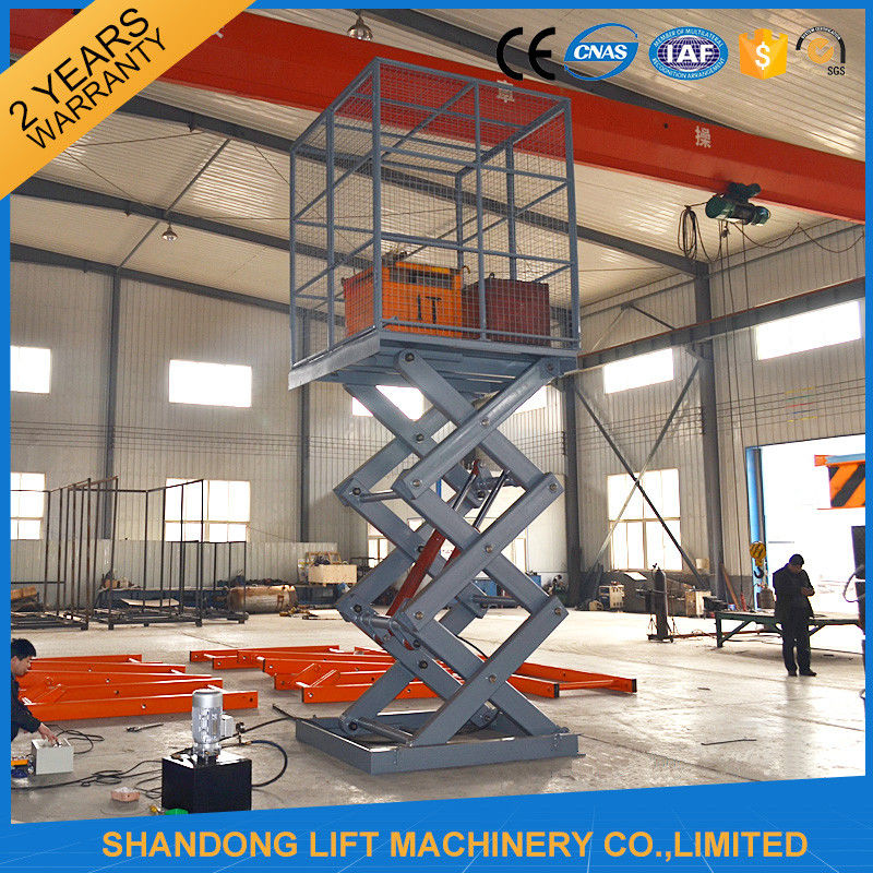 Fixed Stationary Hydraulic Scissor Lift Tables used for Cargo Lifting 3000kgs 3.8m with CE