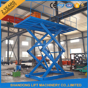 5 Ton 5m Constraction Stationary Scissor Lift Table 380v