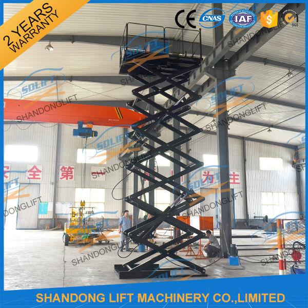 500kgs 10m Hydraulic Heavy Duty Scissor Lift Vertical