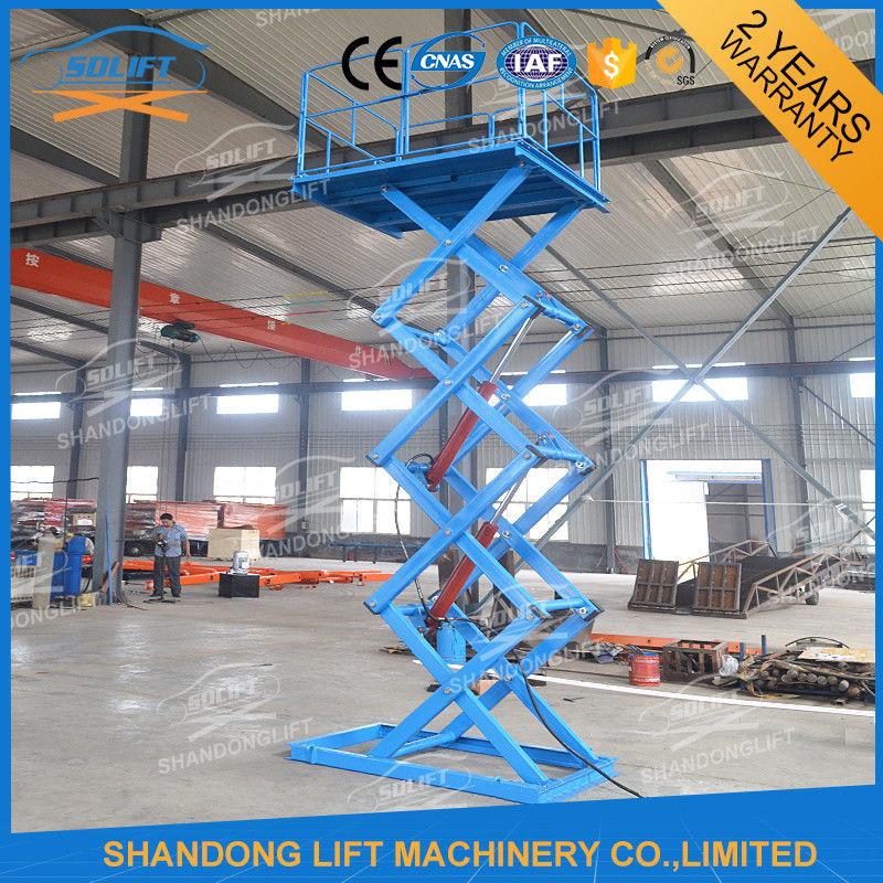 1 5t 3 8m Material Lift Platform Warehouse Hydraulic Cargo