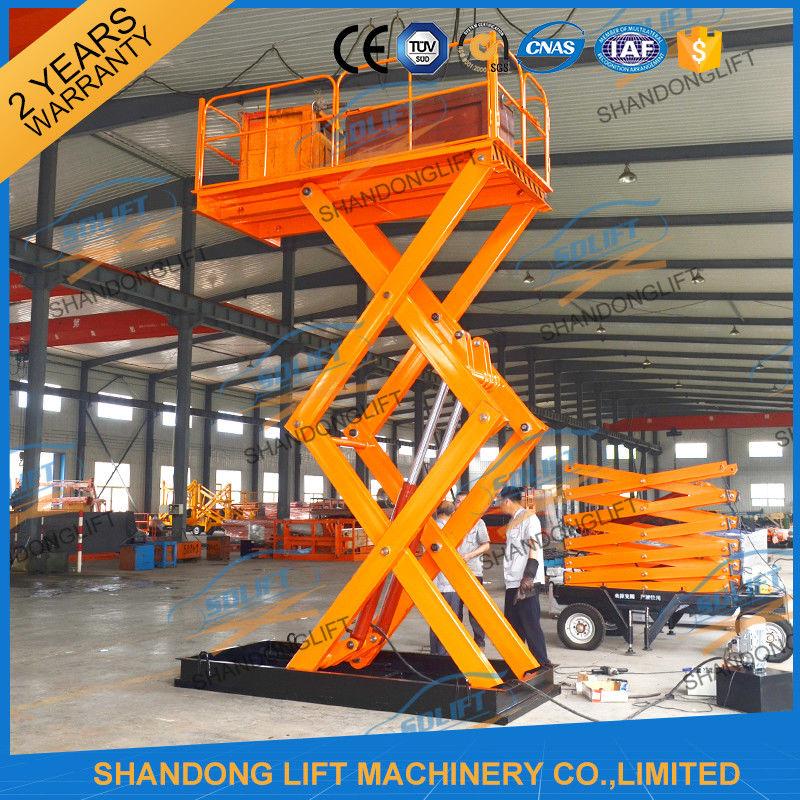 2t 4m Hydraulic Stairs Lift Scissor Lift Platform Cheap