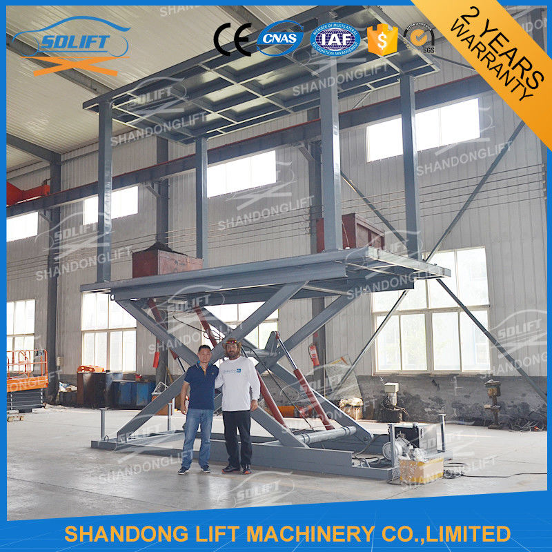 Hydraulic mobile scissor car lift for basement cheap car for Garage elevator lift