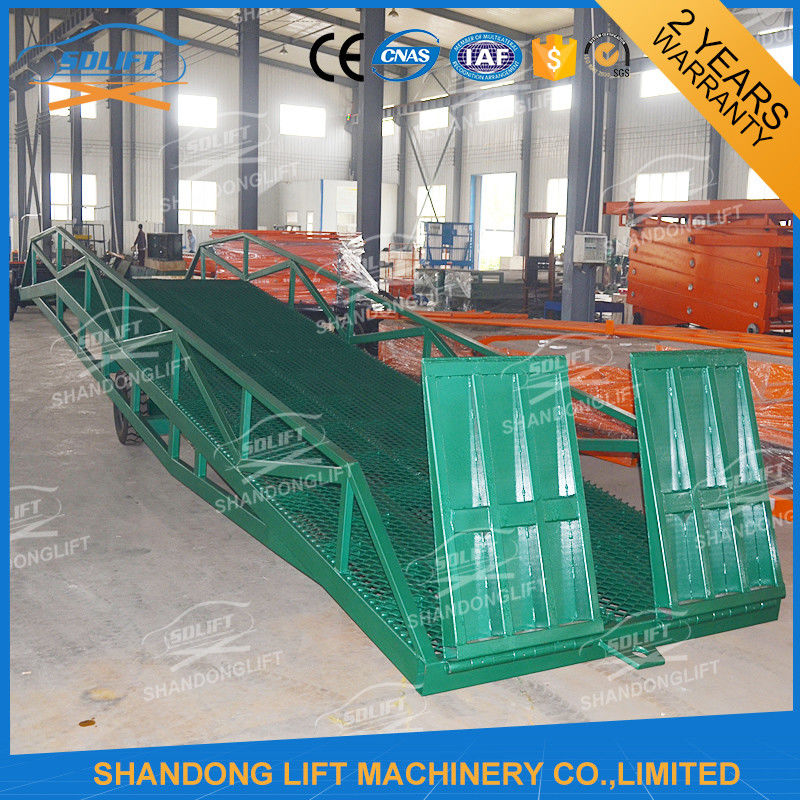 Adjustable Warehouse Container Loading Ramps Electric