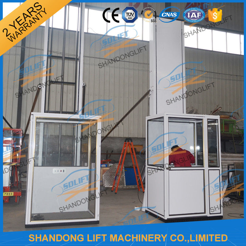 Portable 3m hydrualic small home lift elevator wheelchair for Small lifts for houses