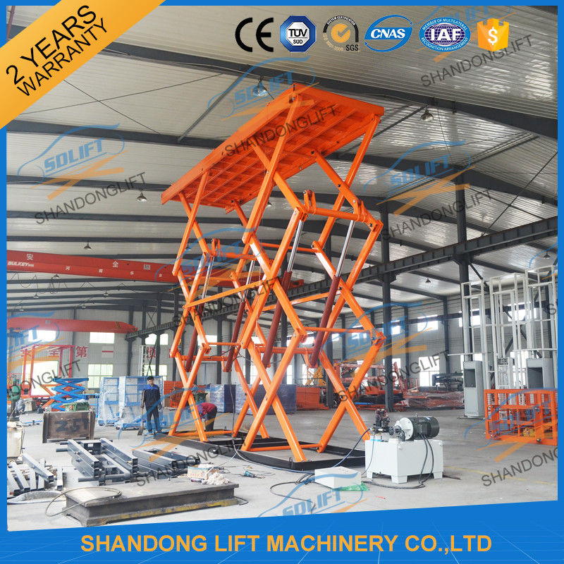 Hydraulic Material Lift : T m heavy loading material lift warehouse stationary