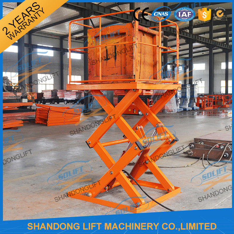 Small Electric Type Portable Hydraulic Fixed Mechanical Scissor Lift 1T - 30T Load Capacity
