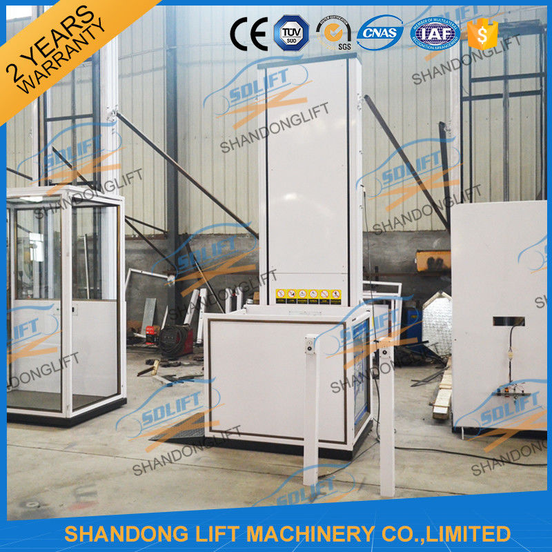 Electric Wheelchair Elevator Lift / Residential Hydraulic Elevator For Old People