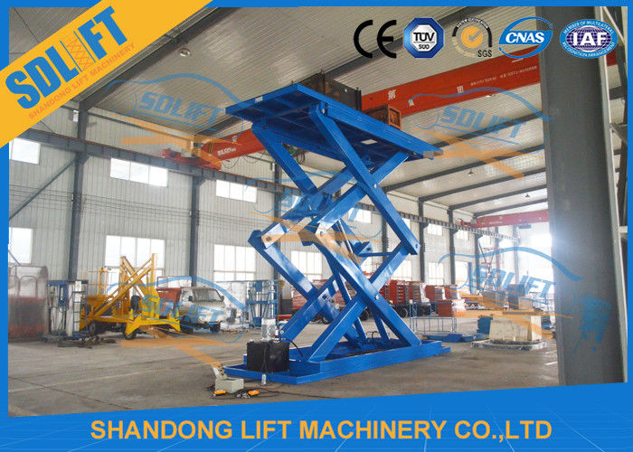 5T 5M Hydraulic Scissor Car Lift / Automotive Vehicle Lifts For Home Garage