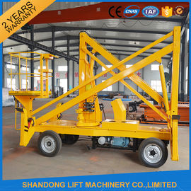 China 10m Diesel Engine Aerial Trailer Mounted Boom Lift Hire , Towable Articulating Boom Lift factory