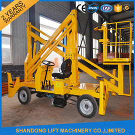 China Automatic 4 Wheels Articulated Vehicle Mounted Boom Lift for 8m - 14m Aerial Work distributor