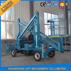 China Commercial Hydraulic Articulated Trailer Boom Lift Rental , 8m Rotating Truck Mounted Aerial Lift distributor
