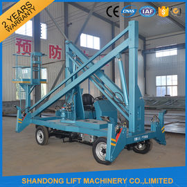China Hydraulic Mobile Articulated Trailer Mounted Boom Lift with Battery / Diesel Power Source factory