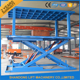 China Indoor / Outdoor Double Car Parking Hydraulic Platform Lift 1 ton - 20 ton Load Capacity Custom distributor
