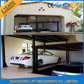 China Steel Auto Car Lift , Hydraulic Garage Car Lift Double Deck Car Parking System distributor