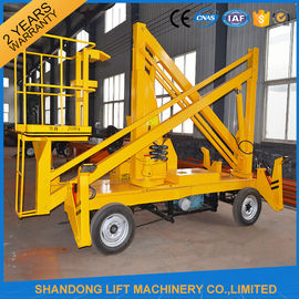 China 13m CE Crank Arm Trailer Mounted Boom Hire for Aerial Work Platform 200kg Loading Capacity distributor