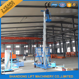 China 8m 100kg Single Mast Aerial Work Platform Lift for Window Cleaning 100kg Capacity distributor