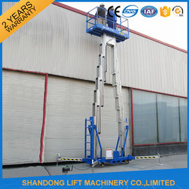 China 14m High Rise Window Cleaning Lift System , Aerial Wok Hydraulic Work Platform Lift  distributor