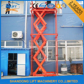 Warehouse Hydraulic Scissor Lifting Equipment for Cargo Loading / Material Handling