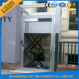 China Hydraulic Home Wheelchair Platform Lift For Disabled People 1.2m * 1m Table Size distributor