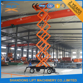 Mobile Platform Lift , 300kg 500kg 1000kg Load Capacity Hydraulic Scissor Lift Trolley