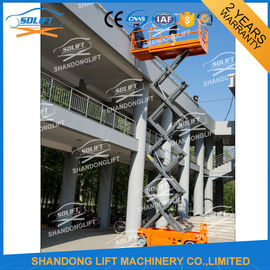 China Electric Battery Power Scissor Lift Self - propelled Mobile Battery Aerial Lift distributor