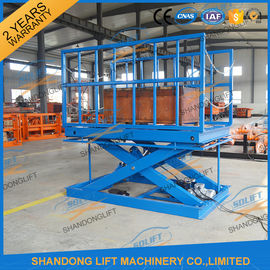 China 2T Warehouse Cargo Stationary Hydraulic Scissor Lift with Safe Sensor and Maintenance Bar distributor