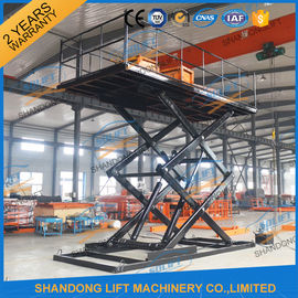 China 2.5T Inground Hydraulic Car Lift 5M Garage Fixed Scissor Car Lift CE TUV SGS factory